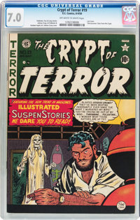 Crypt of Terror #19 (EC, 1950) CGC FN/VF 7.0 Off-white to white pages