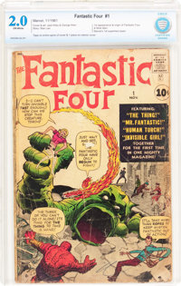 Fantastic Four #1 (Marvel, 1961) CBCS GD 2.0 Off-white pages