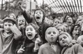 Photographs, Alfred Eisenstaedt (American, 1898-1995). Children at a Puppet Theatre, Paris, 1963. Gelatin silver, 1990. 13-7/8 x 20-7...