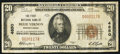 National Bank Notes:Pennsylvania, Belle Vernon, PA - $20 1929 Ty. 1 The First NB Ch. # 4850. ...