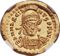 Ancients:Roman Imperial, Ancients: Marcian, Eastern Roman Emperor (AD 450-457). AV solidus (21mm, 4.48 gm, 6h)....