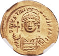 Ancients:Byzantine, Ancients: Justinian I the Great (AD 527-565). AV solidus (21mm,4.49 gm, 6h)....