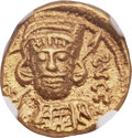 Ancients:Byzantine, Ancients: Constantine IV (AD 668-685). AV Solidus (15mm, 4.31 gm,6h)....