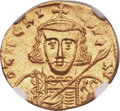 Ancients:Byzantine, Ancients: Tiberius III Apsimar (AD 698-705). AV solidus (20mm, 4.42gm, 6h)....