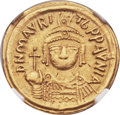Ancients:Byzantine, Ancients: Maurice Tiberius (AD 582-602). AV solidus (19mm, 4.36 gm,5h)....