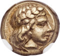 Ancients:Greek, Ancients: LESBOS. Mytilene. Ca. 412-378 BC. EL sixth stater orhecte (10mm, 2.55 gm, 9h)....