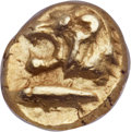 Ancients:Greek, Ancients: MYSIA. Cyzicus. Ca. 6th century BC. EL 1/12 stater orhemihecte (9mm, 1.34 gm)....