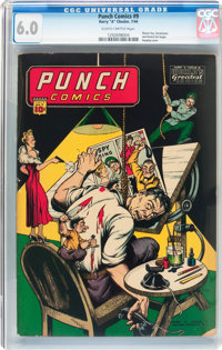 Punch Comics #9 (Chesler, 1944) CGC FN 6.0 Slightly brittle pages