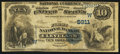 National Bank Notes:Oklahoma, Cleveland, OK - $10 1882 Value Back Fr. 578 The First NB Ch. # (W)5911. ...
