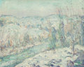 Fine Art - Painting, American:Modern  (1900 1949)  , Ernest Lawson (American, 1873-1939). Snow. Oil on canvas. 16x 20 inches (40.6 x 50.8 cm). Signed lower center: E Laws...