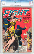 Golden Age (1938-1955):War, Fight Comics #37 (Fiction House, 1945) CGC FN/VF 7.0 Off-white towhite pages....