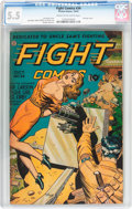 Golden Age (1938-1955):War, Fight Comics #34 (Fiction House, 1944) CGC FN- 5.5 Cream tooff-white pages....