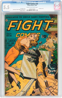 Fight Comics #34 (Fiction House, 1944) CGC FN- 5.5 Cream to off-white pages