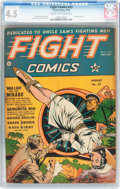 Golden Age (1938-1955):War, Fight Comics #27 (Fiction House, 1943) CGC VG+ 4.5 Cream tooff-white pages....