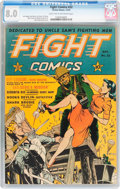 Golden Age (1938-1955):War, Fight Comics #22 (Fiction House, 1942) CGC VF 8.0 Light tan tooff-white pages....