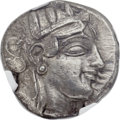Ancients:Greek, Ancients: ATTICA. Athens. Ca. 465-460 BC. AR tetradrachm (24mm, 16.97 gm, 2h)....