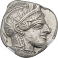 Ancients:Greek, Ancients: ATTICA. Athens. Ca. 454-404 BC. AR tetradrachm (25mm, 17.22 gm, 3h)....
