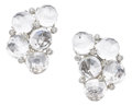 Estate Jewelry:Earrings, Rock Crystal Quartz, Diamond, White Gold Earrings, Aletto Brothers. ... (Total: 2 Items)