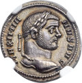 Ancients:Roman Imperial, Ancients: Maximian, first reign (AD 286-305). AR argenteus (18mm,3.39 gm, 6h)....