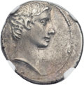 Ancients:Roman Imperial, Ancients: Augustus (27 BC-AD 14). AR denarius (19mm, 3.66 gm,4h)....
