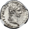 Ancients:Roman Imperial, Ancients: Augustus (27 BC-AD 14). AR denarius (20mm, 3.77 gm, 5h)....