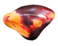Lapidary Art:Carvings, Polished Mookaite. Mooka Creek. Kennedy Ranges. WesternAustralia. 4.91 x 3.41 x 1.54 inches (12.46 x 8.67 x 3.90 cm)....