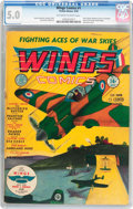 Golden Age (1938-1955):War, Wings Comics #1 (Fiction House, 1940) CGC VG/FN 5.0 Off-white towhite pages....