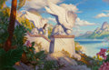 Raoul Vitale (American, b. 1955) Search Mixed media on board 17.75 x 27.75 in. (sight) Signed