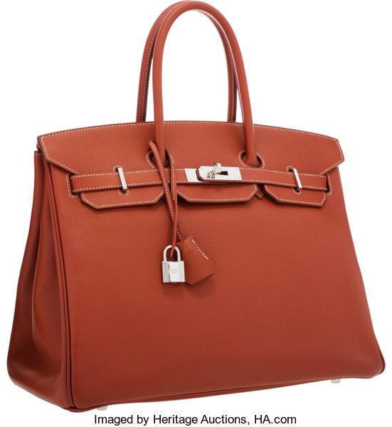 257ce212bdc152 ... Luxury Accessories:Bags, Hermes Limited Edition Candy Collection 35cm  Sienne & Orange HEpsom ...