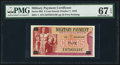 Military Payment Certificates:Series 692, Series 692 5¢ PMG Superb Gem Unc 67 EPQ.. ...