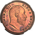 India:British India, India: British India. Edward VII Original Proof 1/4 Anna 1903-(C) PR66 Red and Brown NGC,...