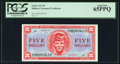 Military Payment Certificates:Series 611, Series 611 $5 PCGS Gem New 65PPQ.. ...