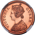 India:British India, India: British India. Victoria Original Proof 1/2 Pice 1862-(C) Proof Details (Altered Color) NGC,...