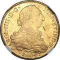 Chile, Chile: Charles IV gold 8 Escudos 1804 So-FJ MS62 NGC,...