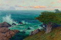 Fine Art - Painting, American:Modern  (1900 1949)  , Charles Partridge Adams (American, 1858-1942). Evening, PointLobos, California. Oil on canvas. 16-1/4 x 24-1/4 inches (...