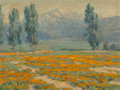 Fine Art - Painting, American:Modern  (1900 1949)  , Benjamin Chambers Brown (American, 1865-1942). Golden Poppiesnear Mount San Jacinto, California. Oil on canvas. 18 x 24...