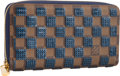 "Luxury Accessories:Accessories, Louis Vuitton Blue Damier Pailletes Zippy Wallet. PristineCondition. 8"" Width x 4"" Height x 1"" Depth. ..."