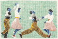 Fine Art - Work on Paper:Watercolor, Richard Yarde (1939-2012). Dancing at the Savoy, 2004.Watercolor on wove paper. 30 x 44 inches (76.2 x 111.8 cm)(sheet...