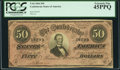 Confederate Notes:1864 Issues, Darker Red Tint T66 $50 1864.. ...