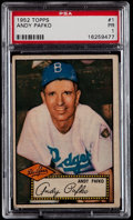 Baseball Cards:Singles (1950-1959), 1952 Topps Andy Pafko, Red Back #1 PSA Poor 1....