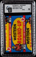 "Non-Sport Cards:Unopened Packs/Display Boxes, 1956 Topps ""Western Round-Up"" 1-Cent Wax Pack GAI Mint 9. ..."