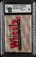 """Non-Sport Cards:Unopened Packs/Display Boxes, 1953 Topps """"World of Wheels"""" Unopened Wax pack GAI NM-MT 8. ..."""