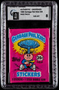 Non-Sport Cards:Unopened Packs/Display Boxes, 1985 Topps Garbage Pail Kids Series 1 25-Cent Wax Pack GAI NM-MT 8....