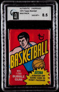 Basketball Cards:Unopened Packs/Display Boxes, 1974-75 Topps Basketball Unopened Wax Pack GAI NM/MT+ 8.5....