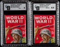 "Non-Sport Cards:Unopened Packs/Display Boxes, 1965 Philadelphia ""World War II"" or ""War Bulletin"" Unopened WaxPacks (2). ..."