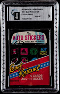 Non-Sport Cards:Unopened Packs/Display Boxes, 1974 Topps Evel Knievel Unopened 6-Card Cello Pack GAI NM-MT 8. ...