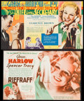 """Movie Posters:Drama, Riffraff & Other Lot (MGM, 1936). Heralds (2) (6.75"""" X 11.5"""", 7"""" X 11"""") DS. Drama.. ... (Total: 2 Items)"""