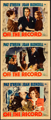 """Off the Record (Warner Brothers, 1939). Lobby Cards (3) (11"""" X 14""""). Drama. ... (Total: 3 Items)"""