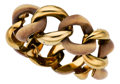 Estate Jewelry:Bracelets, Wood, Gold Bracelet, Seaman Schepps. ...