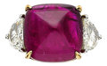 Estate Jewelry:Rings, Ruby, Diamond, Platinum, Gold Ring. ...
